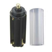 Neue Ankunft 2 in 1 Weiß Gehäuse 18650 Batterie Mantel Rohr + 3 AAA Batteriehalter Fall Box Zubehör für Taschenlampe lampe-in Tragbare Beleuchtung Zubehör aus Licht & Beleuchtung bei