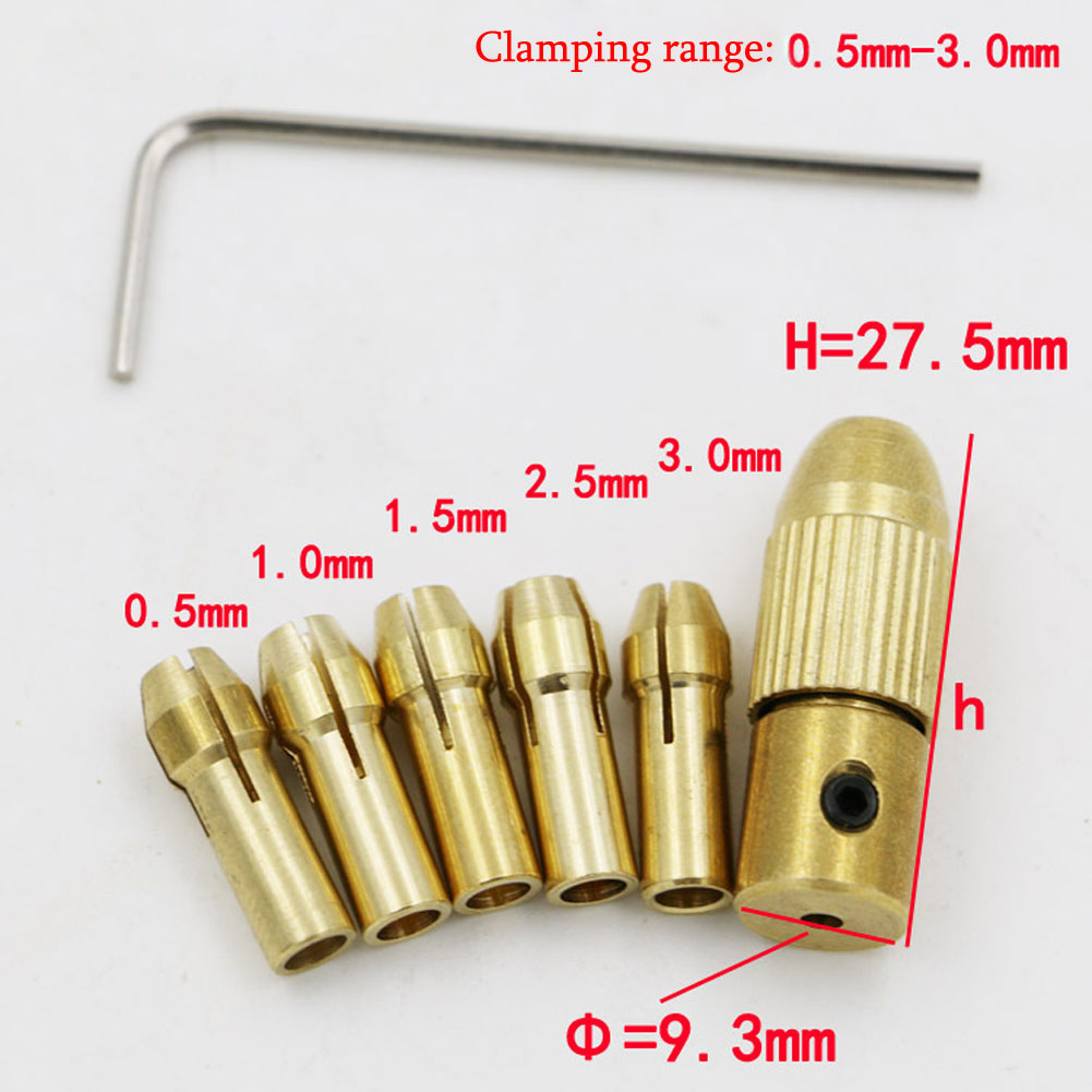 цены  Best Price 5pcs/Set 0.5-3mm Small Electric Drill Bit Collet Micro Twist Drill Chuck Set hot