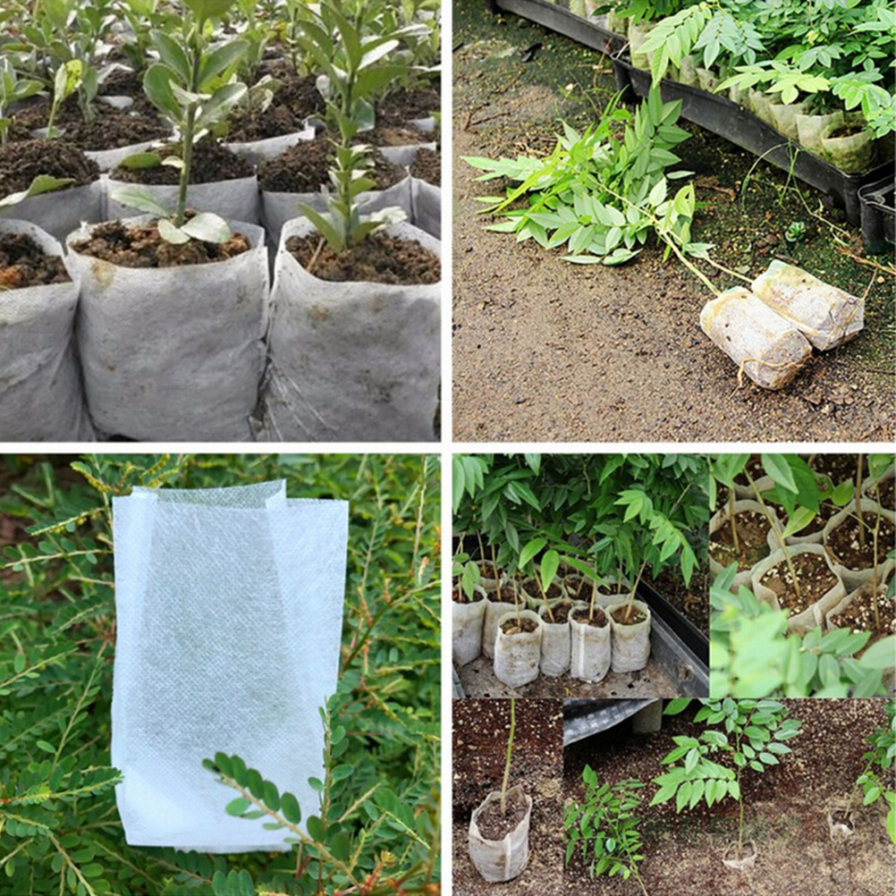 100pcs Plant Fiber Nursery Pots Seedling Raising Bags Garden Supplies Can Degrade Environmental Protection Full All Size In From Home