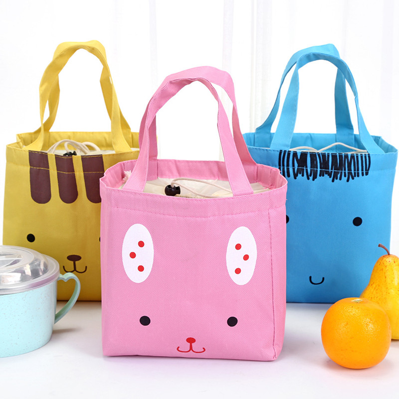 fashion canvas Thermal Lunch Bags for Women Insulated Cooler Box Tote Men Kids Adults Portable Picnic Storage Container