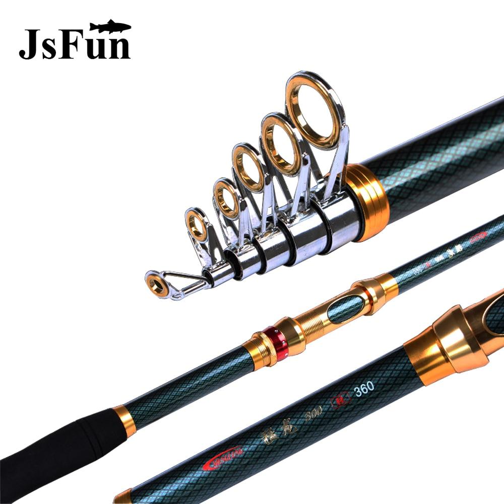 2.1M 2.4M 2.7M 3.0M 3.6M Carbon Fiber Telescopic Spinning Fishing Rod Carp Hand Rod Stream Pole Tackle Sea Rod Ocean Rod L164