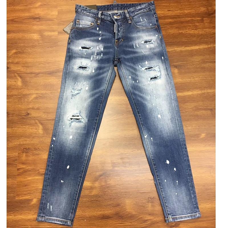 Pleine Longueur Summer Stretch Chaude Vente Mi Taille Mode Mujer Coton Femmes Trou Crayon New Femme 2019 Jeans Pantalon Bleu Mince ataxWqd1wZ