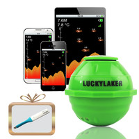 LUCKY Fishing Sonar Wireless WIFI Fish Finder 50M130ft Sea Fish Detect Finder For IOS Android Wi