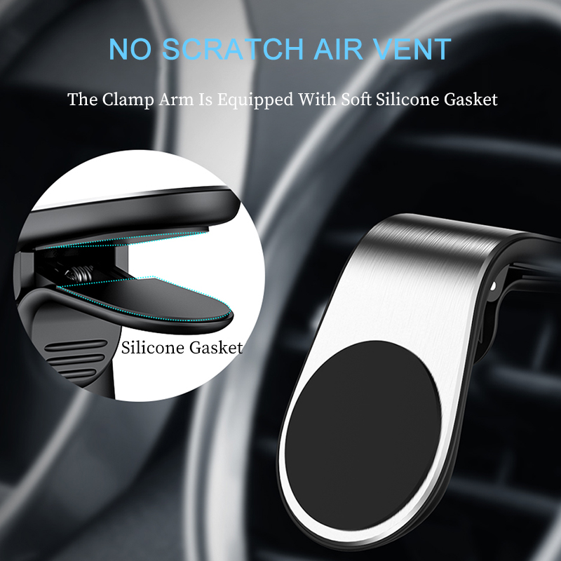 Metal Magnetic Car Phone Holder for Mobile Phone in Car Air Vent Grip Magnet Mount Stand for iPhone Smartphone Suporte Telefone in Phone Holders Stands from Cellphones Telecommunications