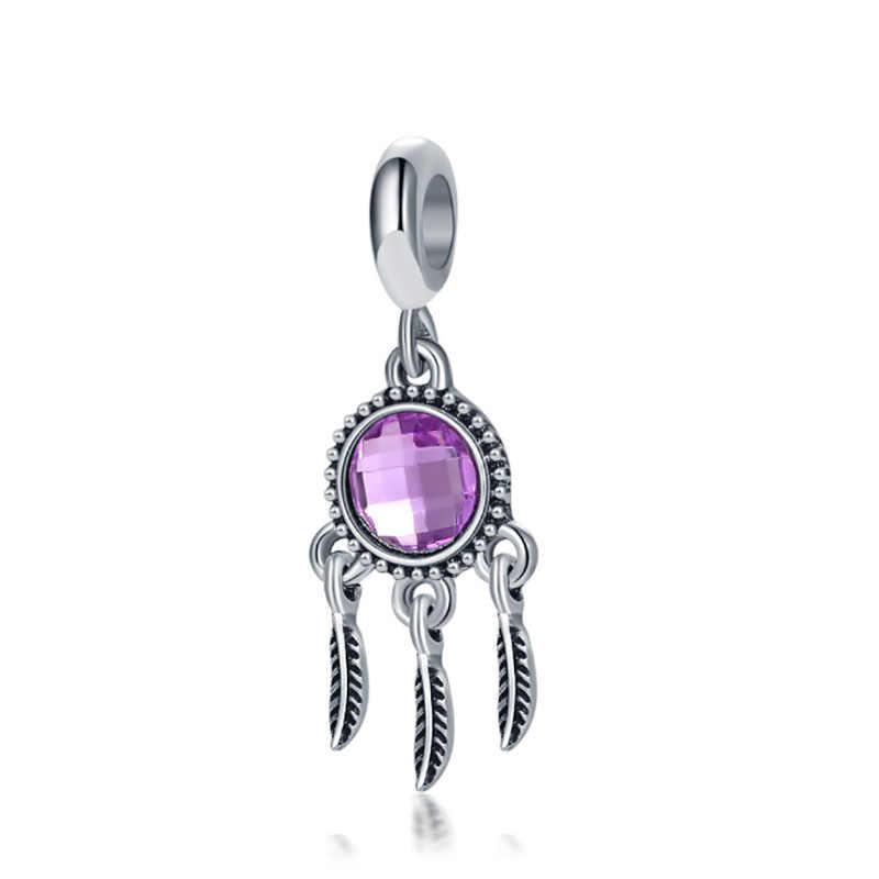 קסמי כסף פלטה דה ליי 925 מקורי צמיד חרוזים תכשיטים ביצוע bijoux sieraden pulseira קסם