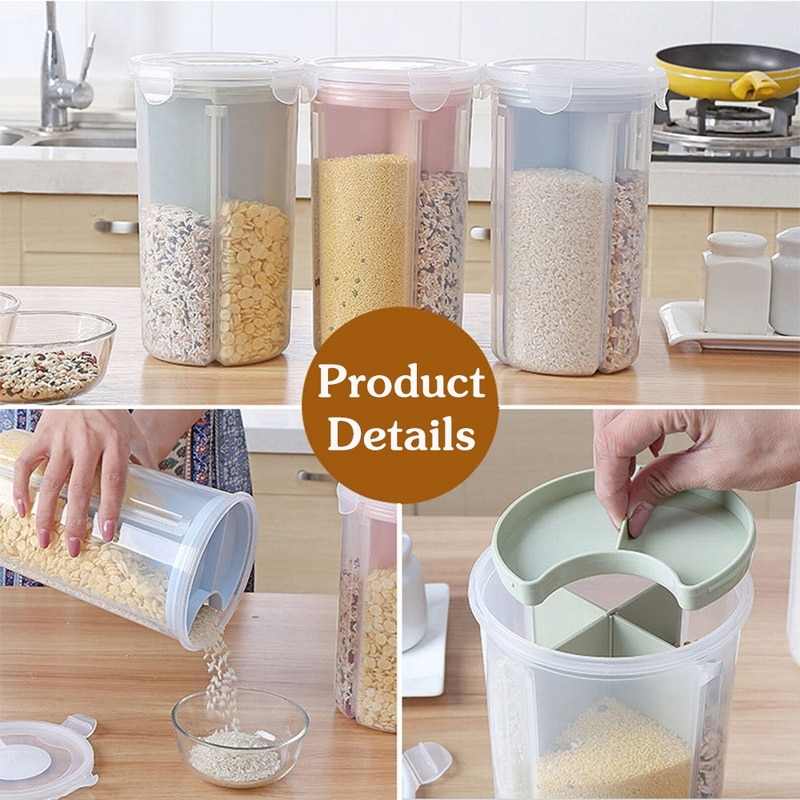 FUNIQUE Stoarge-Jar Storage-Box Seal-Cover Refrigerator Food-Preservation-Container Rice-Beans