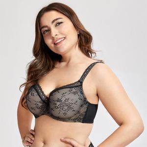 Image 3 - DELIMIRA Womens Full Coverage Lightly Padded Underwire Balconette Lace Bra