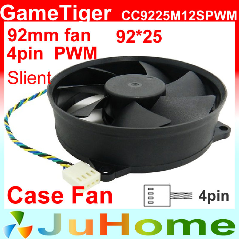 4pin PWM Circular fan 9225, 92mm, 9cm fan, Slient, for power supply, for computer Case, CC9225M12S PWM 4pin pwm cooler fan 80mm 8cm fan case fan for power supply for computer case computer fan cooler foxconn 8025pwm