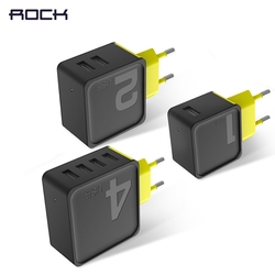 Sugar Mobile Phone Charger, ROCK 5V1A 5V2.4A 5V4A Universal Travel Phone USB Charger, 1 2 4 USB Wall Charger for iPhone Adapter