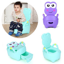 Baby Pot For Children Boys Potty Toilet Seat Baby Potty Training Girls Portable Toilet Bedpan Comfortable Backrest Cartoon Pots(China)