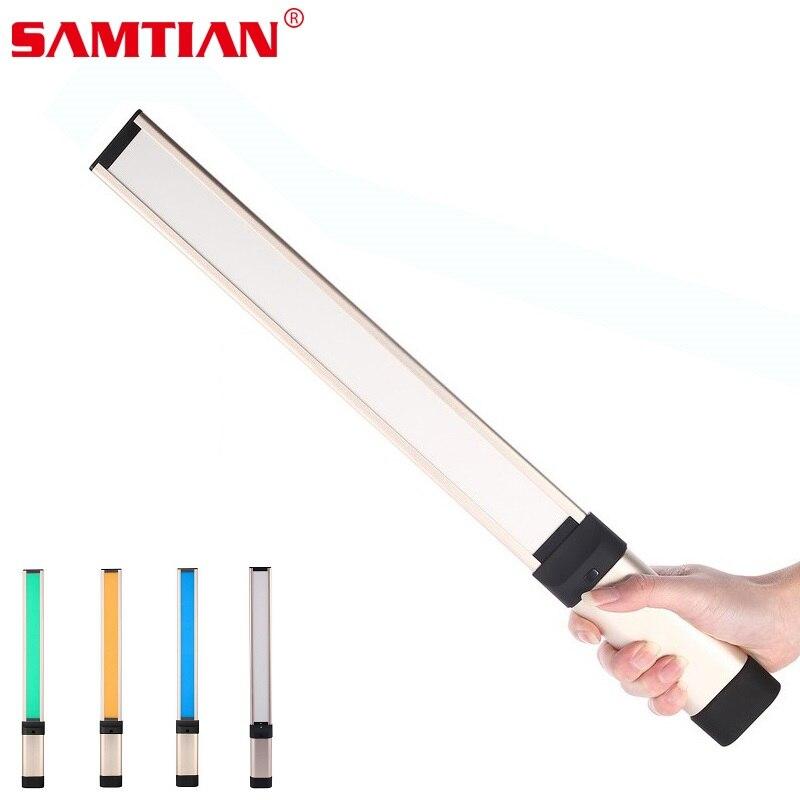 SAMTIAN L2 Ultra thin 7mm 3200K/5600K Led Portable Handheld Magic Light Tube 2200mAh Gift 18650 Battery For Photography Photo|Photographic Lighting| |  -