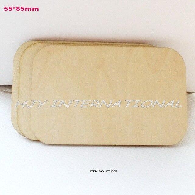 (16 unids/lote) 55mm x 85mm en blanco de madera contrachapada de tarjeta de negocio de madera NOMBRE DE MADERA card-CT1085
