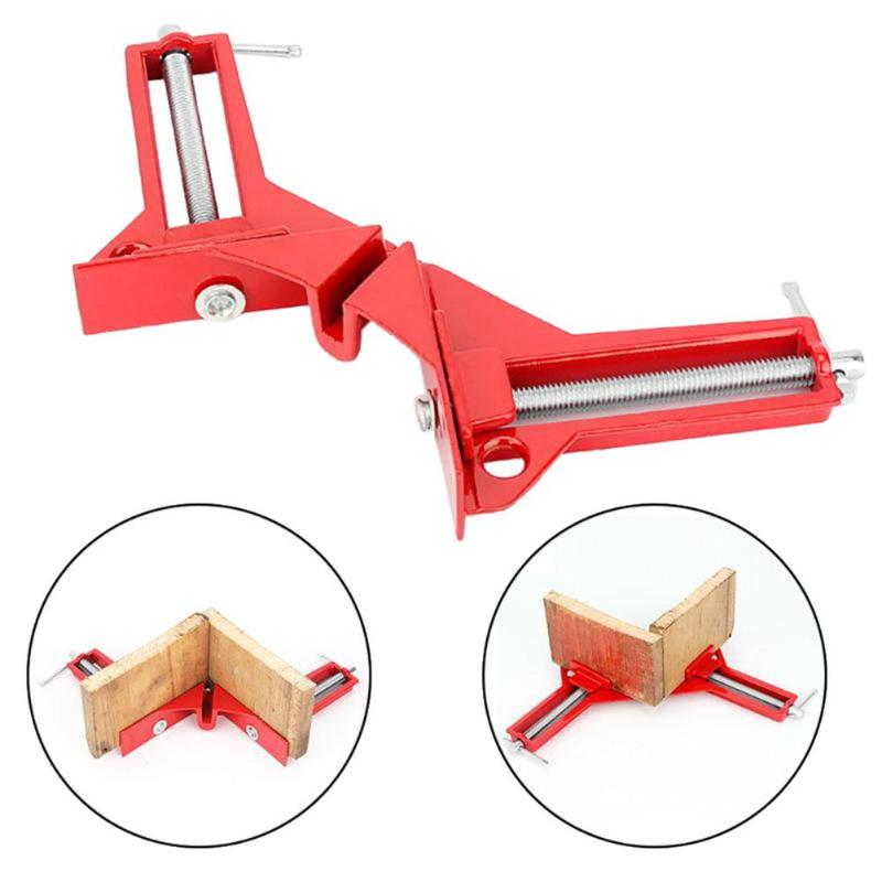 1pcs Corner Clamp Right Angle Clamp 4inch 90 Degrees Clip Picture Frame  Mitre Structure Picture Holder Woodworking Tool
