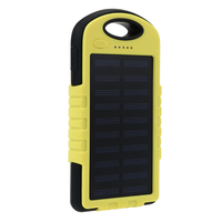 Brand 8000mAh Power Bank Portable Waterproof Solar Charger Dual USB External Battery For Cell Phone Accessories USB Cable