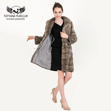 Women Real Natural Mink Fur Coat With Fur Collar 100% Real Genuine Mink Fur Hoode Jacket 2017 Women Mink Fur Outerwear Coats