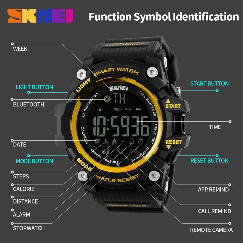 Men's Watches Digital Watches Nice Digital Smart Watch Men Fashion Communication Function Digital Wristwatch Led Display Military Sport Watch Waterproof Smartwatch