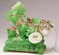 Зеленый Античный телефон телефон бытовой