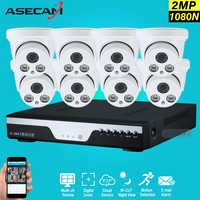 New 8ch HD 2MP Security Surveillance Kit Home DVR Video Recorder AHD Array Infrared Indoor White