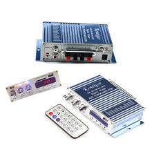 2017 NEW Amplifiers Accessory Portable Blue Mini Hifi Car Motor Audio Stereo Amplifier 2 Channel+Remote Control
