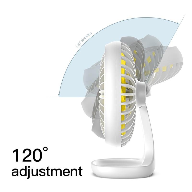 Baseus USB Gadgets Cool Fan Portable Ventiladors 3-Speed Electric Mini USB Fan Quiet Summer Cooler 5 Blades Desktop Office Fan
