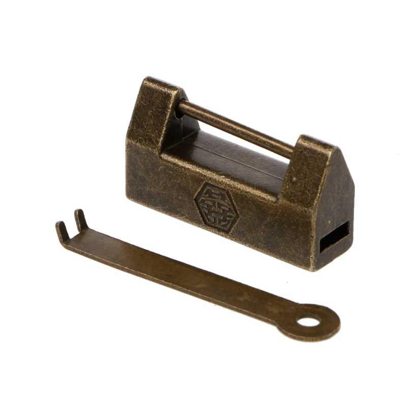 ヴィンテージのウェディング真鍮南京錠キージュエリーボックス伝統的な中国ロック