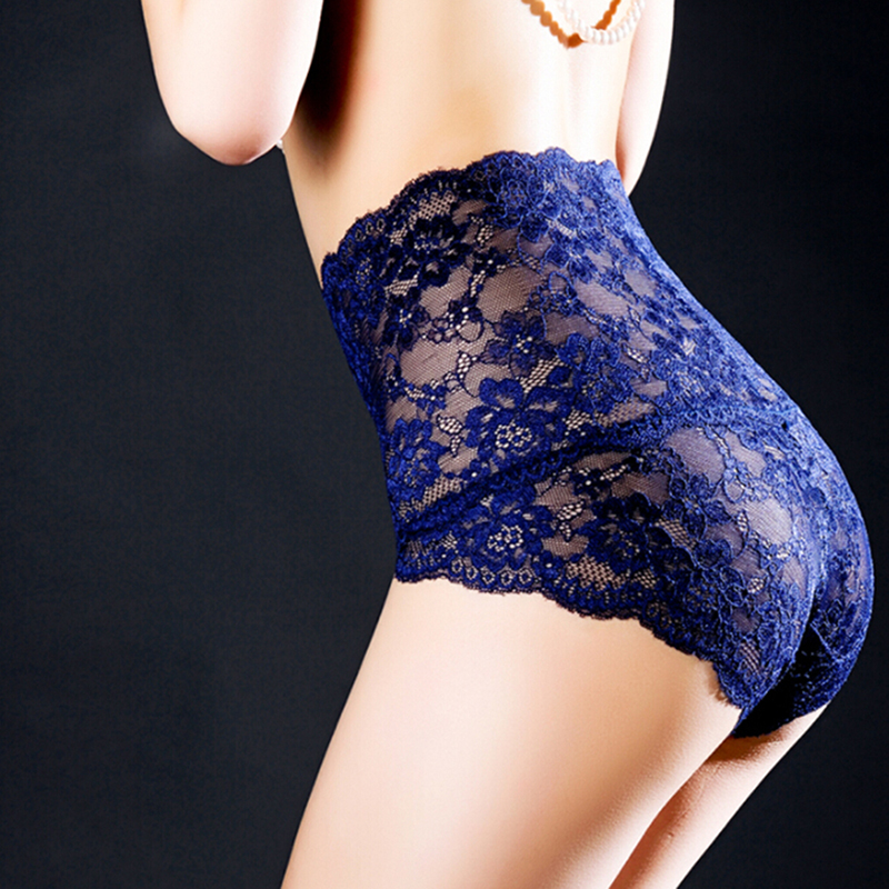 Sexy Female Lace   Panties   Ladies Bodycon Belly High Waist Underwear Hollow Out Floral   Panties   Women's Intamates