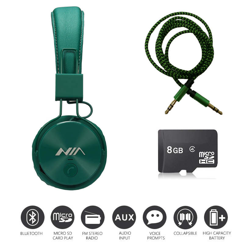 Economic Set: Original NIA X3 + 8 GB Micro SD Card a Set Multifunction Bluetooth Headphones One Cable for Free original 3 5177986 8