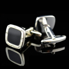 Free shipping Classical Cufflinks black color business design hotsale copper material cufflinks whoelsale&retail