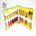 Energia profissional marca 19 pcs colorful rainbow conjunto de pincel de maquiagem make up brushes + bolsa de brochas maquiagem maquillage pinceaux