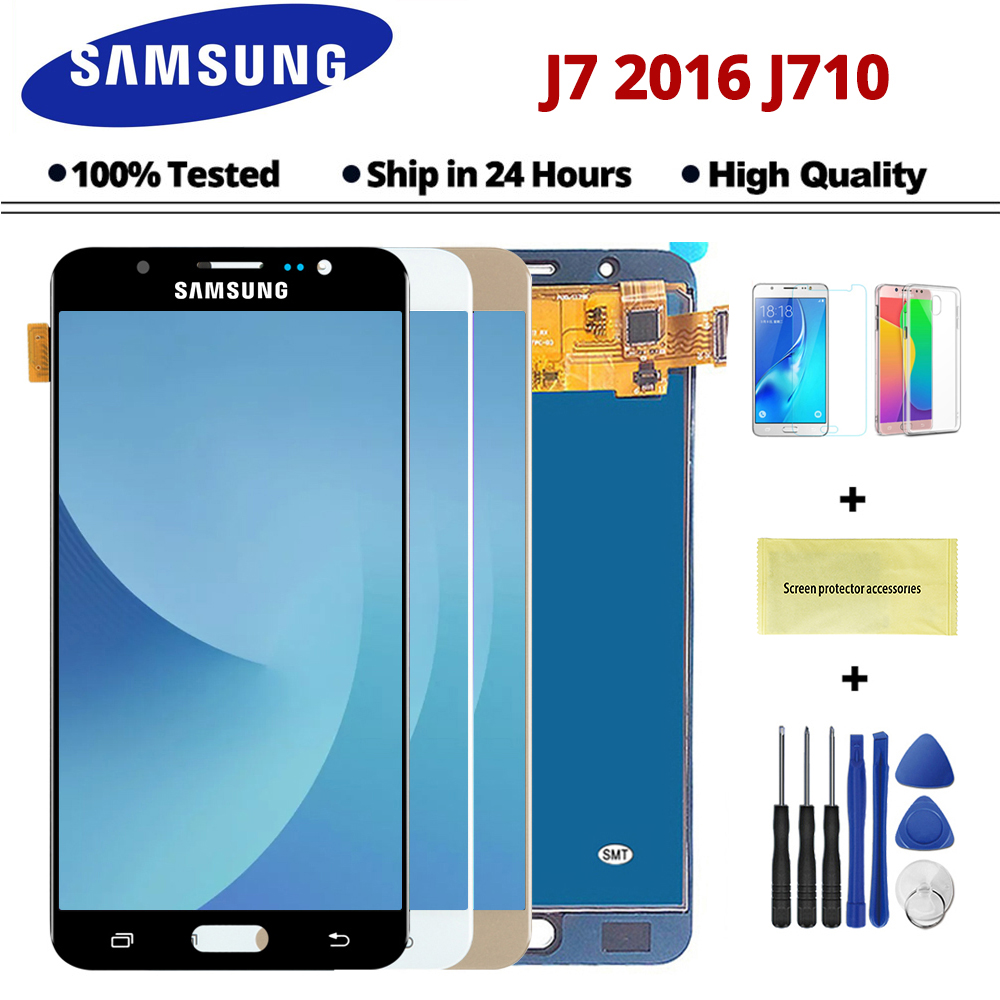 100% Tested For Samsung Galaxy J7 2016 J710FN J710F J710M J710 LCD Display