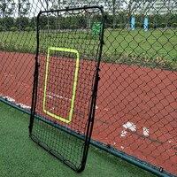 Профессиональный оцинкованный стальной трубы отскок футбол/Бейсбол цель черный футбол отскок целевой сетки Регулируемый инструмент