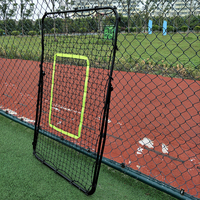 Professional Galvanized Steel Pipe Rebound Soccer/Baseball Goal Black Soccer Football Rebound Target Mesh Net Adjustable Tool