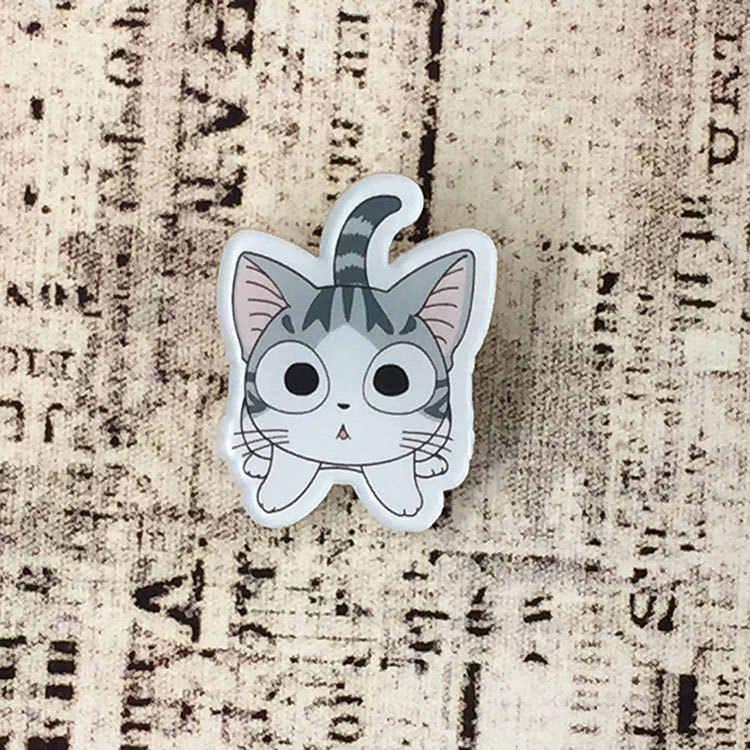Chi cat Lucu Karton kawaii anime pakaian akrilik pin icon dekorasi lencana ransel tombol lencana Harajuku bros Hot