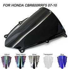 ABS Windscreen For Honda CBR600RR CBR 600RR 2007-2012 Double Bubble Motorcycle Windshield Wind Deflectors
