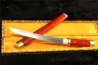 20,5 розового дерева Дамаск сложенном стали острый меч полный Танто Тан может CUT Бамбук Дерево