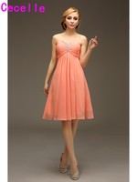 Short Knee Length Coral Empire Maternity Bridesmaids Dreses For Pregnant Women Casual Party Dresses 2017 Cheap