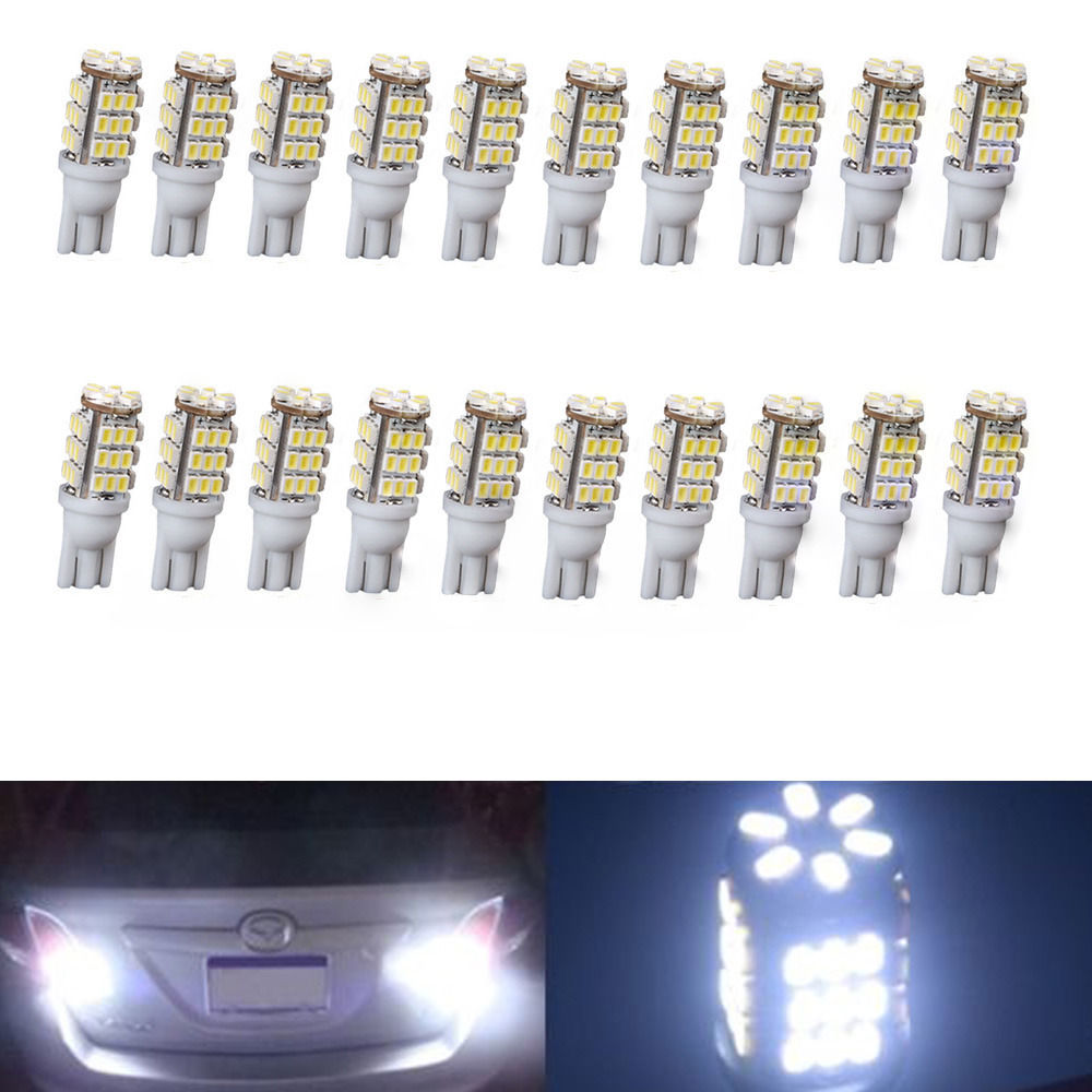 CYAN SOIL BAY 20PCS White 168/194 Trailer 42-SMD 12V Backup Reverse LED <font><b>Lights</b></font> Bulbs T10/921/194 RV W5W