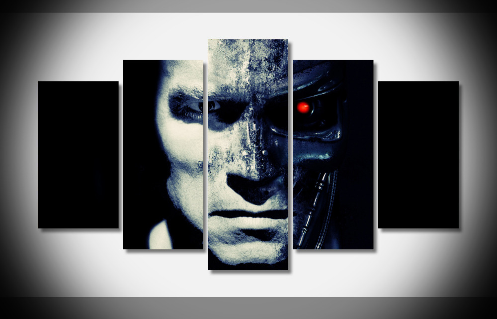 2693 terminator movie Poster Framed Gallery wrap art print home wall decor wall picture Already to hang digital print wholesale
