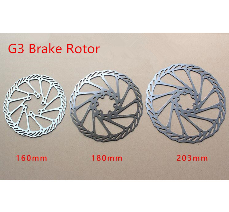 1pcs MTB Rotors Bicycle Brake Disc Stainless Steel Rotors with Free 6 Bolts
