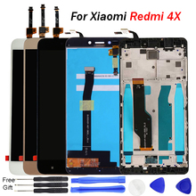 For Redmi 4X display Touch Screen Digitizer Assembly with frame for Xiaomi Redmi Note 4X LCD Screen 5.5 inch LCD Phone Screen все цены