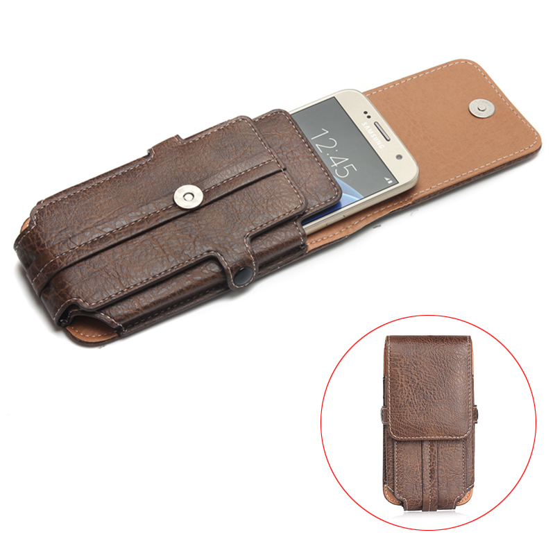 """High Quality Stone Pattern PU Leather Case For For doogee x5 max pro 5.1"""" Below Shell Hook Loop Belt Pouch With Card Slots Photo"""