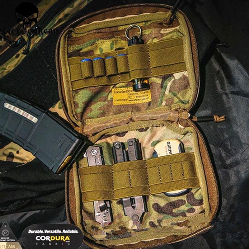 Emersongear 20 cm x 19 cm EDC GP pochette Molle ceinture taille clip sac vertical militaire marron USA Cordura Multicam tropique 500D