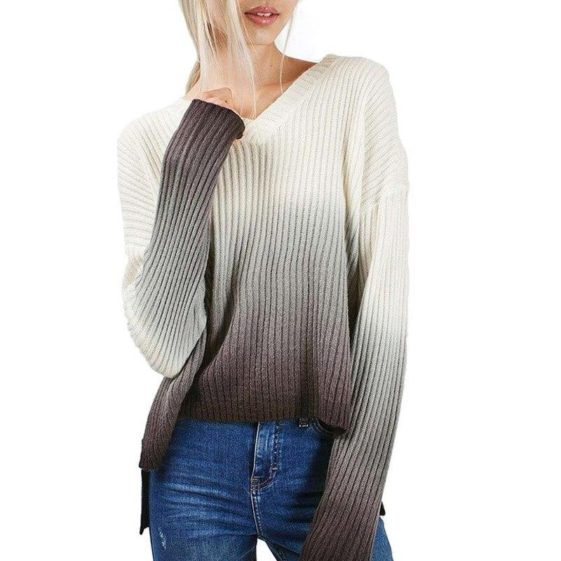 ⊹Mujeres Europeas casual pullover suéter Otoño Invierno 2016 Nuevo ...