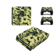 New Camo Camouflage Vinyl Skin Sticker Protector For Sony Playstation 4 Pro Console+2PCS Controller Skin Decal Cover For PS4 Pro