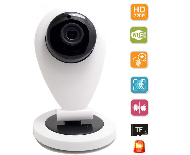 720P Mini Wifi IP Camera Wireless HD Smart P2P Baby Monitor Network CCTV Security Camera Home Protection Mobile Remote Cam Onvif 2014 new arrival hot sale freeshipping yes infrared cctv security onvif demo ip camera wireless wifi 960p hd mini p2p home