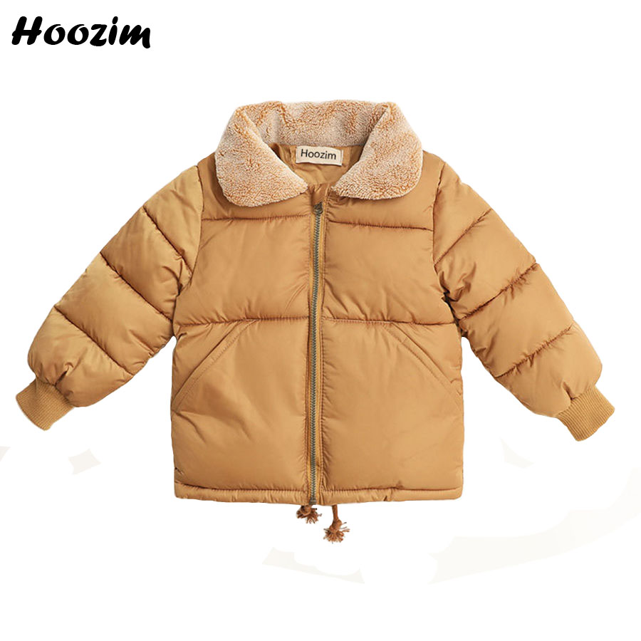 Autumn Cotton Parka Children Casual Jackets For Boys 6 7 8 9 Years Winter Faux Fur Collar Coat Girls Autumn Black Kids Outerwear 2016 high quality casual coat for boys mandarin collar polyester juegos infantiles for children nttz 206