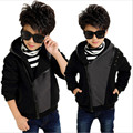 male child spring 2016 uterwear sweatshirt  teenage Kids boys winter coat new big boy  children clip gram thick velvet warm