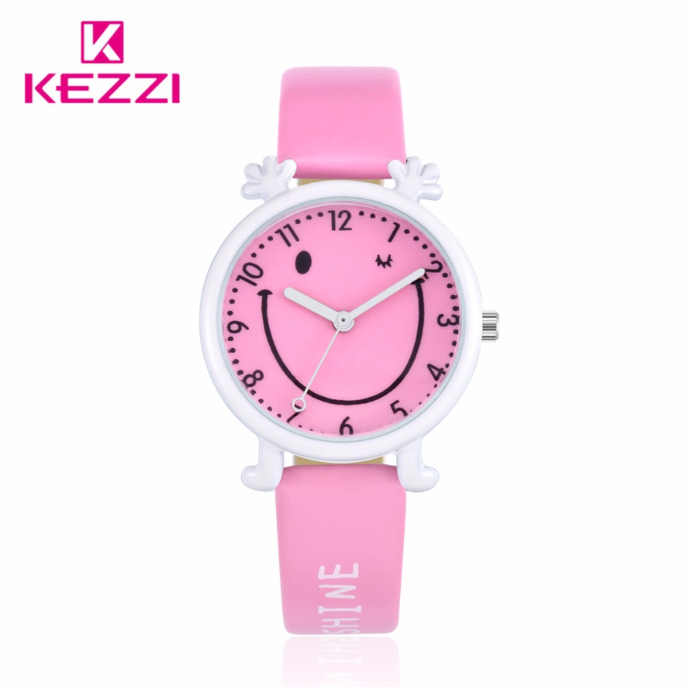 KEZZI Watch for Kids Children Cute relogio infantil relogio menina Smile Kids Watch for Girls Boys Waterproof Popular