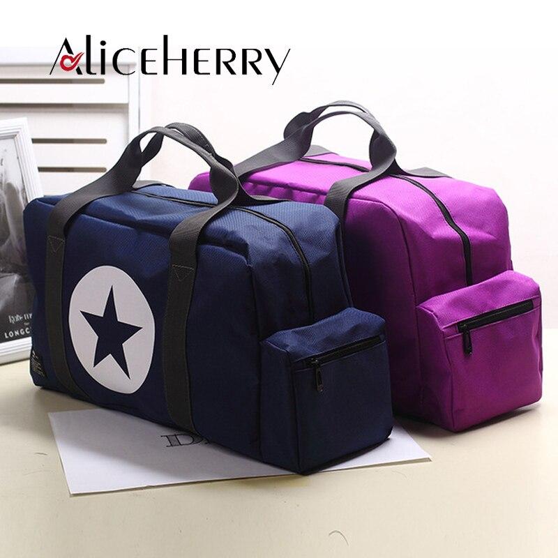 dd8a90fe482a Новый 2019 Повседневное модные женские туфли дорожные сумки полиэстер  молния выходные Путешествия Портативный сумка мужской вещевой багаж с.