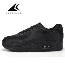 Leixiang Seksi Cheap Musim Gugur Sepatu Lari untuk Pria Udara Nyaman 90 Wanita Sneaker Bernapas Zapatillas Mujer Olahraga